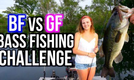 Flair – BF vs GF BASS FISHING CHALLENGE!!!!