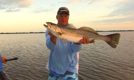 Addictive Fishing | Big TROUT fishing on topwater plugs in Mosquito Lagoon Florida