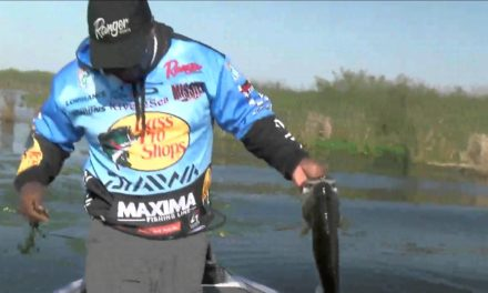 Ish Monroe catches a 4 on a Frog BASS Live www.bassmaster.com
