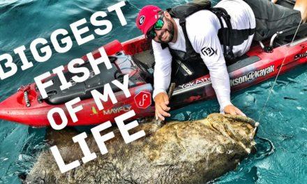 FlukeMaster – THE BIGGEST FISH OF MY LIFE – 200 Pound Kayak Fishing Challenge