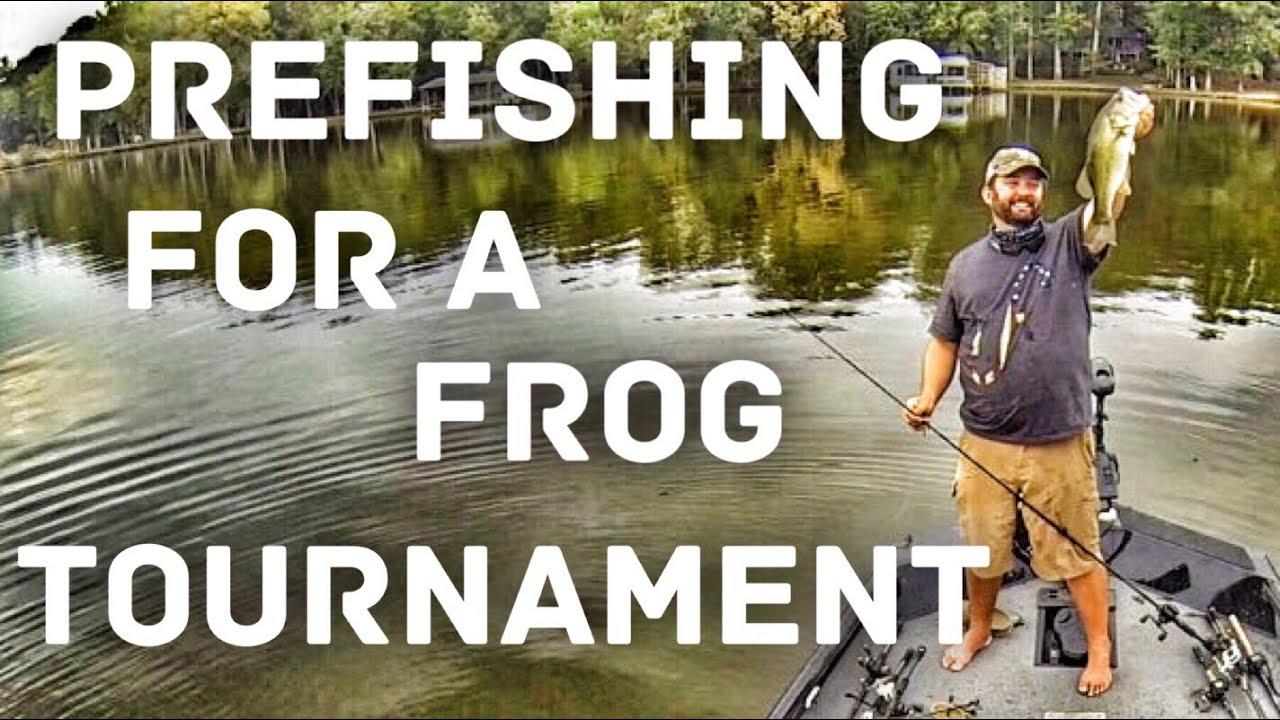 Flukemaster prefishing for a bass fishing tournament for Open bass fishing tournaments