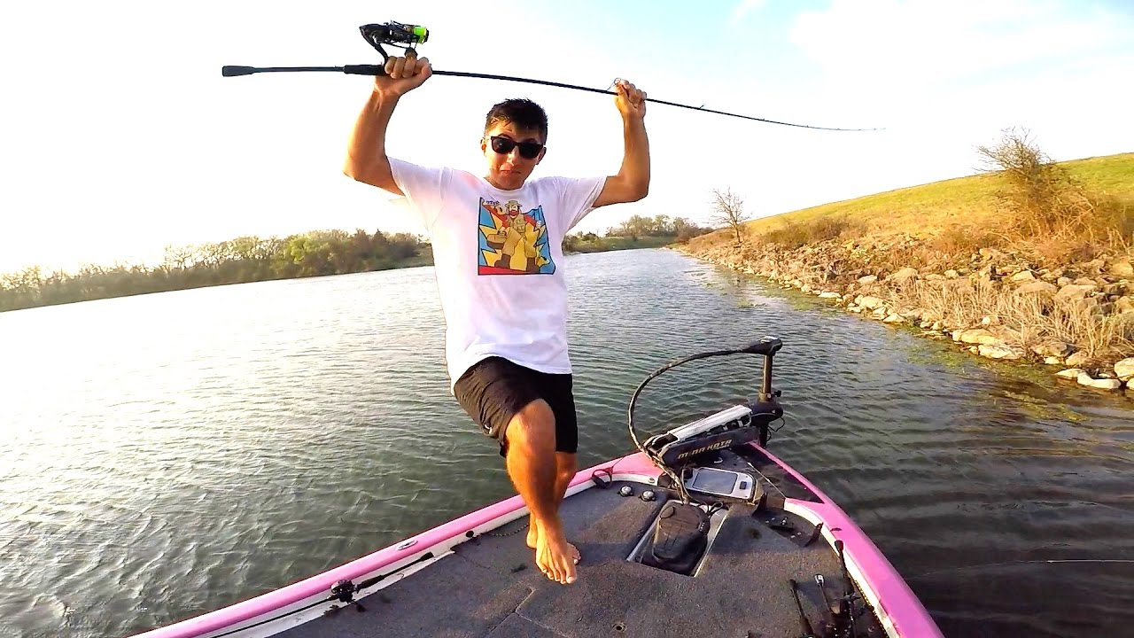 Flair loser eats a worm bass fishing challenge for Flair fishing rod
