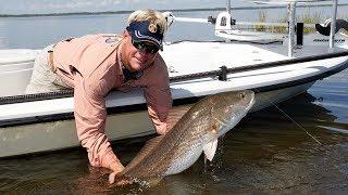 Mosquito Lagoon Fishing Videos for Bull Redfish with DOA Big Fish Lure