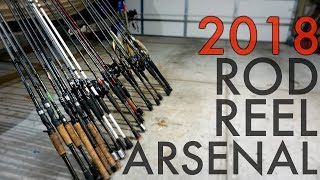 Bass Fishing Rod & Reel Arsenal 2018 (FINALLY)