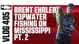 Brent Ehrler Fishing the Lucky Craft Sammy Bug 100 on the Mississippi – TW VLOG #405