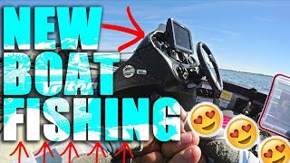 FIRST TIME Bass Fishing the New Rig!!! BASS BOAT LIFE