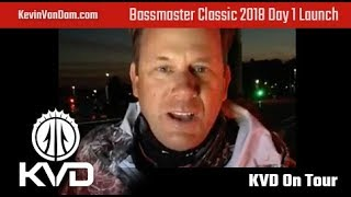 KVD – Bassmaster Classic Day 1- Launch