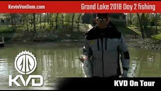KVD Live fishing – Grand Lake – Bassmaster Elite Series 2018 – Day 2 part 1