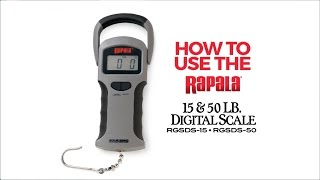 Rapala® RGSDS 15lb & 50lb Scale Instructions
