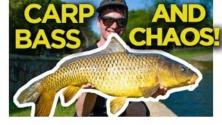 An unexpected bass fishing trip, ft BIG CARP! Bass fishing Pt 3