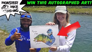 Autographed Peacock Bass GIVEAWAY | Monster Mike Fishing