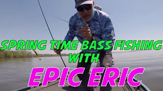 Bass Fishing for Largemouth Bass on the Chesapeake Bay in the Spring!