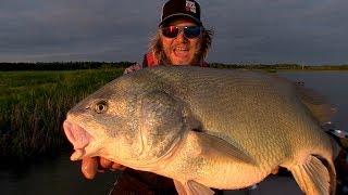 Uncut Angling – Manitoba – Barn Door Drum Fishing – Waterhen River, Manitoba