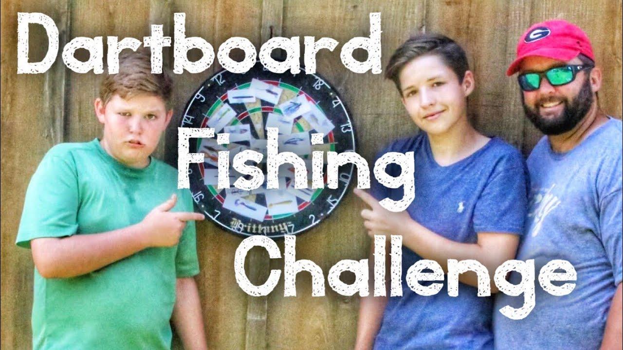 Dartboard bass fishing challenge bank fishing with the for Bass fishing challenge