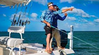 Key West Fishing for Tarpon Barracuda and Lemon Shark – 4K