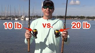 Salt Strong | – Casting Distance Experiment – 10 lb Braid vs. 20 lb Braid On Spinning Tackle [Surprising Results]