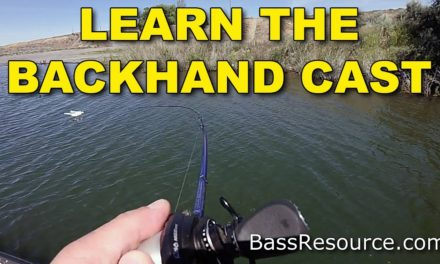 How To Do A Backhand Cast With A Baitcaster | Bass Fishing