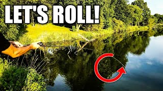Bass Fishing for Beginners: How to Sidearm Roll Cast with a BAITCASTER (VERY USEFUL CAST)