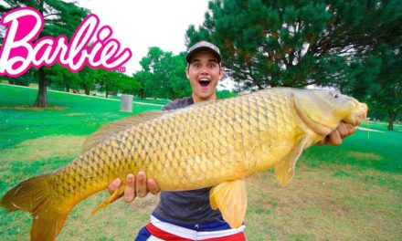 Flair – Catching GIANT Fish on BARBIE ROD!!! – City Pond Challenge