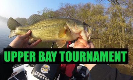 Fishing a Popular Creek during an Upper Bay Tournament