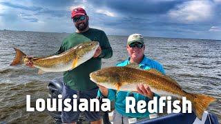 FlukeMaster – Amazing day Fishing for Redfish in Venice Louisiana