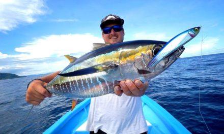 INSANE Yellowfin Tuna Fishing w/ Bass Tackle!!! (INITIATED)
