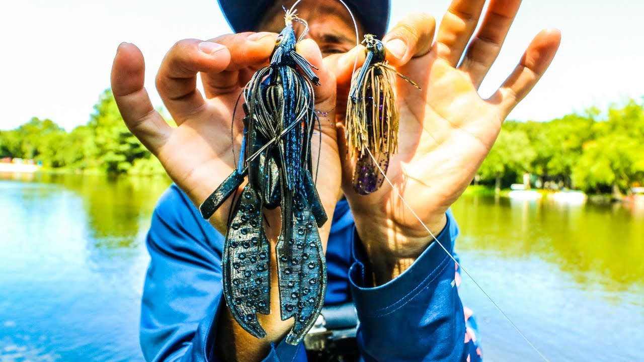 The biggest bass fishing jig you will ever see will it for Bass fishing youtube