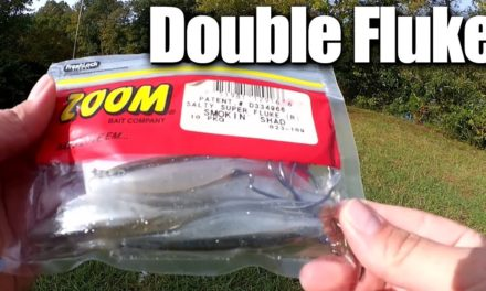 Fall Bass Fishing With a Double Fluke Rig! New Lure Challenge