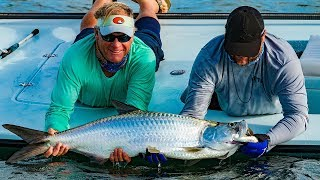 Key West Fishing for Tarpon and Barracuda on the Flats – 4K