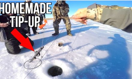 Flair – Fishing with HOMEMADE Tip-Ups for BIG Bass!!!