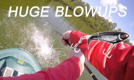 INSANE Whopper Plopper Bass Fishing BLOWUPS!!!