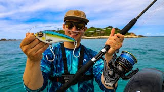 Lawson Lindsey – Fishing MEGA Glide Baits Around  Islands Off the Coast of Australia