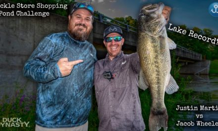 Lake Record Largemouth Bass bank fishing?! Tackle Shop Challenge
