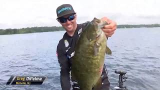Bassmaster – Greg DiPalma's two quality smallmouth early on Day 3
