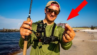 Lawson Lindsey – This Lure CRUSHES Fish While Fishing from SHORE