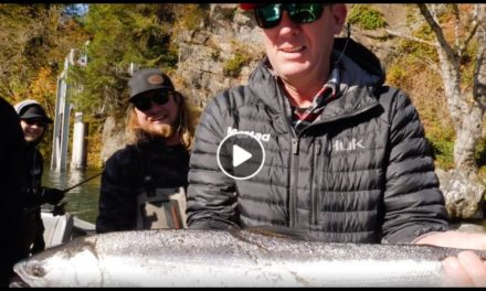Kevin VanDam salmon fishing with Addicted Fishing crew