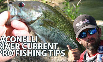 Mike Iaconelli Secret Tips & Tactics – River Eddies & Under Bridges Bass Fishing How-to – Ike's Secret Tips