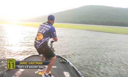Bassmaster – Hartman's rise from 10th to 1st at Guntersville