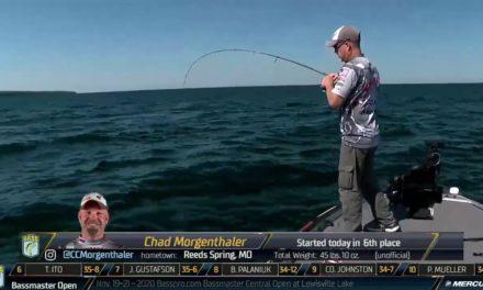 Bassmaster – Chad Morgenthaler making a run on Day 2