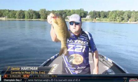 Bassmaster – Jamie Hartman's fast start on Day 3 at Lake Champlain