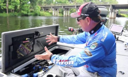 Shaw Grigsby Jr. Talks about his TackleWebs on his boat.