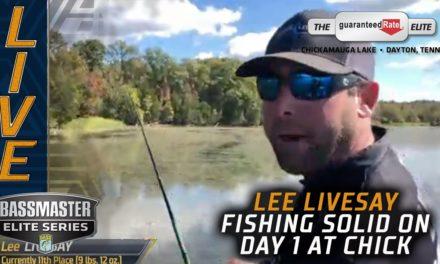 Bassmaster – Checking in with Lee Livesay on Day 1 at Chickamauga