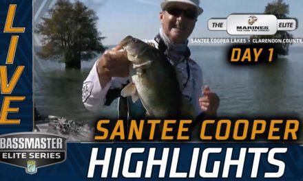 Bassmaster – Day 1 Highlights (2020 Bassmaster Elite at Santee Cooper)