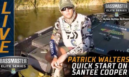 Bassmaster – Patrick Walters starts quick on Santee Cooper