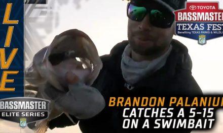 Bassmaster – Brandon Palaniuk catching some big ones on Fork