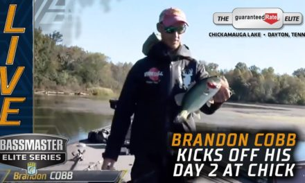 Bassmaster – Cobb breaks the seal, lands a keeper bite on Chickamauga
