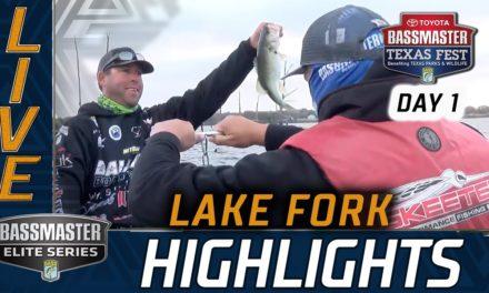 Bassmaster – Day 1 Highlights (2020 Bassmaster Elite at Lake Fork)