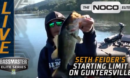 Bassmaster – Feider's early limit on Day 3 at Lake Guntersville (Bassmaster Elite Series event)