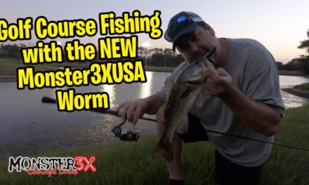 Golf Course FISHING with the new Monster3xUSA Worm and BD Lures Wiggle Bug