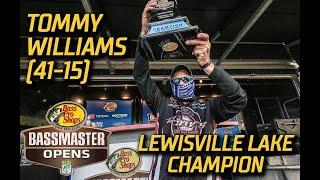 Bassmaster – Tommy Williams wins Bassmaster Open on Lewisville Lake